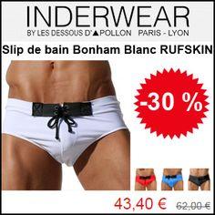 #missbonreduction; 30 % de réduction sur le Slip de bain Bonham Blanc RUFSKIN chez Inderwear. http://www.miss-bon-reduction.fr//details-bon-reduction-Inderwear-i852599-c1827585.html
