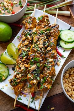Grilling Recipes, Meat Recipes, Asian Recipes, Chicken Recipes, Cooking Recipes, Crockpot Recipes, Recipies, Peanut Dipping Sauces, Spicy Peanut Sauce