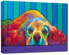 Ron Burns, brilliantly painted dogs and strong supporter of animal adoption.  ronburns.com