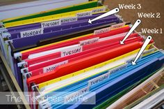 How to organise your lessons & files more than one week at a time! So helpful! Organisation is my weak point...