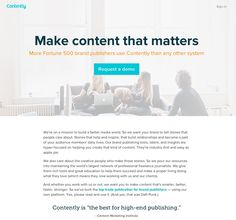 Contently does great landing page copy!