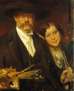 CORINTH, Lovis German (1858-1925)_Self Portrait 1887-1888