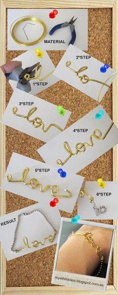 Tutorial love DIY Bracelet
