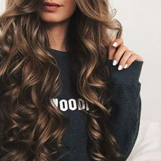 wavy long hairstyles + brunette