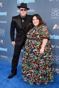 'This Is Us' stars Chris Sullivan and Chrissy Metz looked like quite the cool pair, especially Chrissy in her gorgeous floral frock. (Photo by Kevin Mazur/WireImage) via @AOL_Lifestyle Read more: http://www.aol.com/article/entertainment/2016/12/11/critics-choice-awards-2016-red-carpet-arrivals/21625460/?a_dgi=aolshare_pinterest#fullscreen