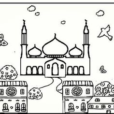 99 Creative Mosque Projects {Resource | drawing and painting ...