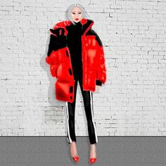 The right way to wear a puffer coat (with pumps of course👠😅) Long Puffer Coat, Fashion Illustrations, Winter Jackets, Pumps, Photo And Video, How To Wear, Inspiration, Instagram, Art