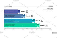 Four phase process bar graph design. Element of chart, graph, diagram. Concept for presentation, annual report, infographic.