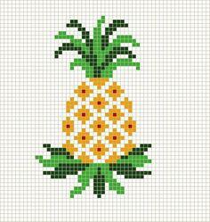 stitchbystitch89…. Basic Pineapple Cross Stitch Pattern