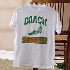 15 Sports Personalized Coach T-Shirt