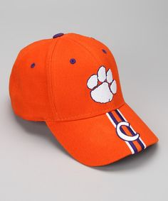 4fe6bfd6de3 Take a look at this Orange Clemson Matty Baseball Cap - Kids by T.E.I. on