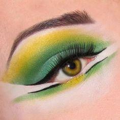 Lime green and yellow makeup idea. Limecrime makeup