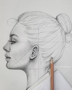 """Find the free Face Proportions Guidance in my board """"How to Draw. How I Draw"""". Art Drawings Sketches Simple, Pencil Art Drawings, Realistic Drawings, Human Painting, Painting & Drawing, Face Proportions Drawing, Neck Drawing, Profile Drawing, Proportion Art"""