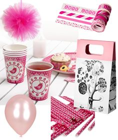 Kids' party with a pink theme