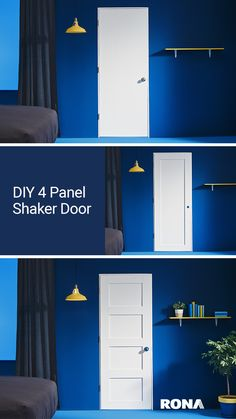 Boring doors around the house are out. Transform them into charming decorative elements with this simple project.