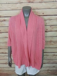 Chico's cardigan sweater open front langenlook size 1 Womens size M wear to work #Chicos #Cardigan #Work