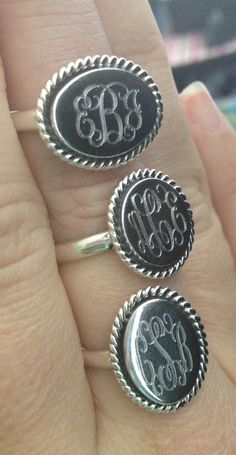 Monogrammed Rings from Marleylilly.com! #ring