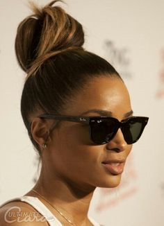Uploaded by Glenda . Find images and videos about beautiful, hair and sunglasses on We Heart It - the app to get lost in what you love. Easy Hairstyles For Medium Hair, Black Women Hairstyles, Pretty Hairstyles, American Hairstyles, Updo Hairstyle, Hairstyle Tutorials, Wedding Hairstyles, Ciara Hairstyles, High Bun Hairstyles