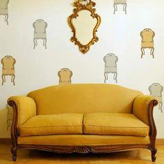 Wall Art Stencil | Parlor Chair | Royal Design Studio