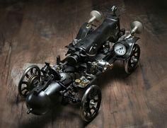 Steampunk style singer Sewing machine car.  Design by A.TARIK DEMIRBAS  Photo by MURAT KUSCU