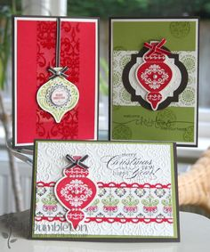 Stampin 'n Stuff: Ornament Keepsake Bundle Class Cards
