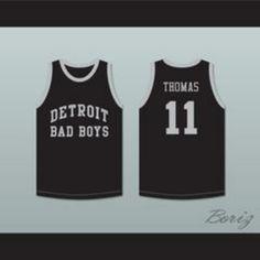 f69eb0ee58f8 Isiah Thomas 11 Detroit Bad Boys Basketball Jersey