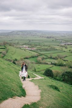 Gal Meets Glam Glastonbury Tor - Traveling the winding steps