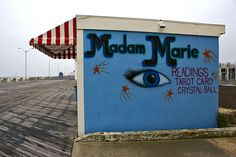 Madam Marie - Asbury Park NJ by Lara Mercer Photography, via Flickr Great Places, Places Ive Been, Places To Go, Asbury Park Boardwalk, Latest Jokes, Abandoned Places, Great Photos, New Jersey, Wander