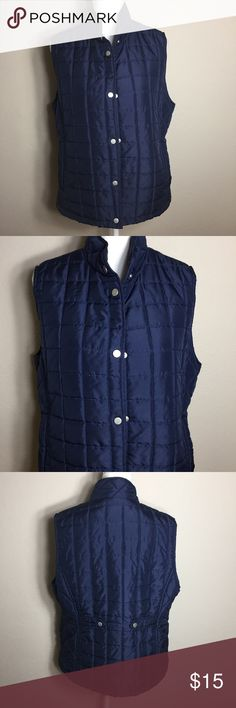 "Great Northwest Indigo Women's Vest Size extra large. Navy blue. Machine washable polyester. Lightly Quilted. Snap front. Back snap belt detail. Side pockets. Bust measures 42"". Length is 24"". This vest will not add a lot of bulk to your body and is in very good condition.   (7) great northwest indigo Jackets & Coats Vests"