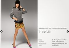 I'm still in love with Amazon's fall ads! How cute does Chanel Iman look in this Tracy Reese skirt and sweater?