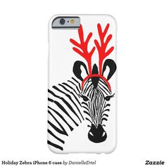 Holiday Zebra iPhone 6 case. Cool Gift Ideas.
