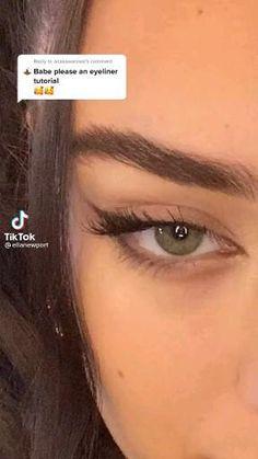 Edgy Makeup, Eye Makeup Art, Skin Makeup, Makeup For Brown Skin, Formal Makeup, Grunge Makeup, Makeup Tutorial Eyeliner, Makeup Looks Tutorial, Natural Eyeliner Tutorial