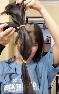 Long Hair Ponytail, Ponytail Hairstyles, Girl Hairstyles, Crop Hair, Buzz Cuts, Shave My Head, Cutting Hair, Brave Women, Shaved Hair
