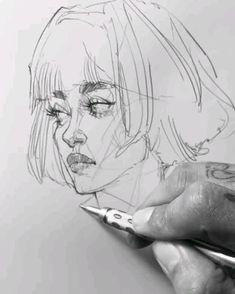 Interesting Drawings, Cool Art Drawings, Pencil Art Drawings, Realistic Drawings, Art Drawings Sketches, Angel Drawing, Human Drawing, Manga Drawing Tutorials, Art Tutorials
