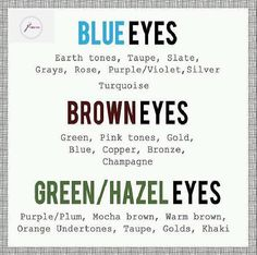 Simple color chart for what to wear with your eye color   Youniquebyjacki.com