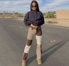 100% handmade stitch jeans in brown colors! also purple available on my page! Indie Outfits, Retro Outfits, Cute Casual Outfits, Fashion Outfits, Sneakers Fashion, Cute Night Outfits, Fasion, Cute Vintage Outfits, Girly Outfits