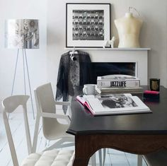 Modern white home office | Home office | Decorating ideas | Image | housetohome.co.uk