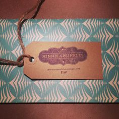 Our DIY business cards by Minnie Sprinkles