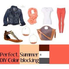 Coral such a pretty color! Gotta get this outfit