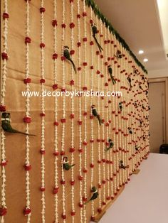 DecorbyKrishna is taking orders for eco-friendly home based events decor, like p… Desi Wedding Decor, Wedding Hall Decorations, Marriage Decoration, Engagement Decorations, Wedding Mandap, Wedding Wall, Wedding Blog, Housewarming Decorations, Diy Diwali Decorations