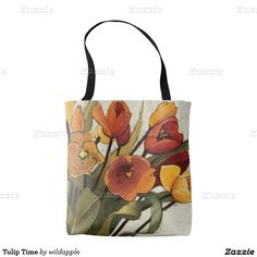 Tulip Time Tote Bag. Regalos, Gifts. #bolso #bag #DiaDeLasMadres #MothersDay