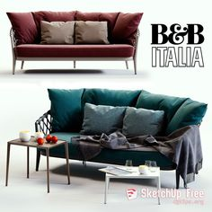 BB Italia ERICA Blue and Red Sofa model, this piece of art Textures low-poly model ready for Virtual, accurately design for perfect visualization Sketchup Free, Sketchup Model, Low Poly 3d Models, 3d Studio, Red Sofa, 3d Visualization, Sofa Furniture, B & B, Sofas