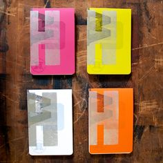 Every color or just the orange or green or white :) Notebooks - Hamilton Wood Type & Printing Museum