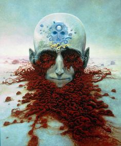 """Polish artist, Zdzisław Beksiński made a name for himself with his dystopian surrealism paintings, filled with post-apocalyptic imagery and nightmarish creatures. He said: """"I wish to paint in such a manner as if I were photographing dreams."""""""