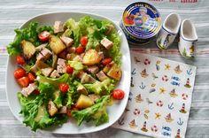 Recette de salade bretonne au paté hénaff avec des fonds d'artichauts bretons : une salade originale, fraiche et gourmande qui se prépare très rapidement