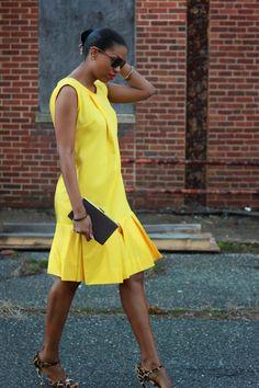 DIY Lemon Yellow Dress-Beaute' J'adore