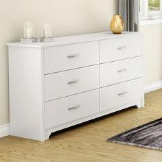 South Shore Fusion 6 Drawer Dresser Finish: Pure White