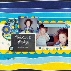 Family Album 2000: Tristan & Paxtyn   Pixel Scrapper digital scrapbooking
