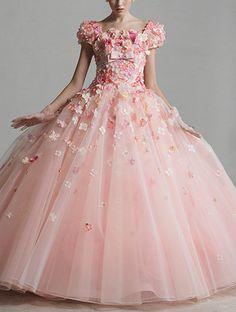 YP-11253P (T)(O) Yumi Katsura. Pink ballgown