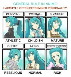 Hairstyles determines different behaviors in anime ~ Hatsune Miku (Vocaloid or Anime? which board! Manga Anime, Pelo Anime, Anime Meme, Otaku Meme, Vocaloid, Manga Drawing, Drawing Tips, Drawing Ideas, Drawing Faces
